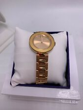 $695 MOVADO BOLD 3600387 Ladies Rose Gold Sunray Dial Stainless Steel Watch