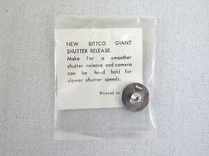 Vintage Bittco Giant Shutter Release Button Chrome Japan Leica Canon Nikon
