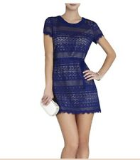 "BCBG MaxAzria Dress ""DARLITA"" 8 (M) Lace Sheath-Deep Royal Blue -Spring Summer"