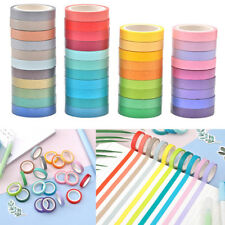 40 DIY Colourful Roll Tape Self Adhesive Washi Paper Scrapbooking Sticker Set