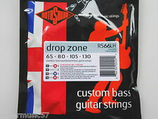 Rotosound RS66LH Drop Zone en acier inoxydable long scale bass cordes 65-130