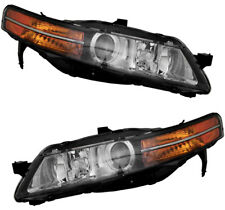 HID Xenon Headlights Headlamps (w/o Ballast) NEW Pair Set for 2004-2005 Acura TL