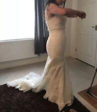Viva Bride Blondell Wedding Dress 10 (12) Petite Fishtail Mermaid • Ivory • Lace