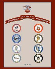 AFL 1960 Team Logo Poster - 8x10 Color Photo
