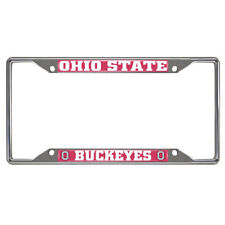 New NCAA Ohio State Buckeyes Car Truck Chrome Metal License Plate Frame