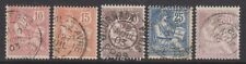 FRANCE - 1902,10c - 30c MOUCHON timbres - Redrawn - d'Occasion - SG 309/13
