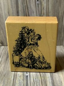 PSX G-3519 Victorian Christmas Rubber Mounted Stamp Scrapbooking and Crafting
