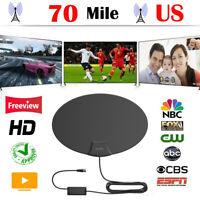 DHTV 1080P Digital Indoor TV Antenna Improved 30dB 70 Mile Range HD amplified