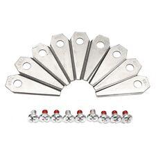 9 Klingen Messer für BOSCH Indego 350 400 1000 1100 1200 mower blades Rasenmäher