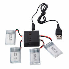 HOT 4pcs 3.7V 600mAh Lipo Battery + Charger for Syma X5C F5C RC Drone RC165