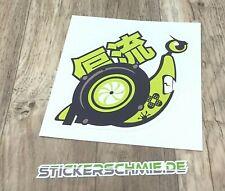 #34 JDM-Schnecke Digitaldruck 10,5x10,5cm Auto Moto Sticker Fun Stickerschmie.de