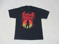 WWE Ember Moon Shirt Adult Large Black Red WWF Wrestler Wrestling Mens
