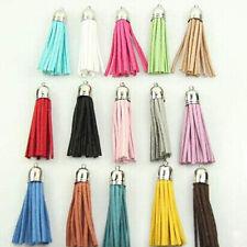 5pcs Faux Leather Velvet Terylene Tassel Pendant For Jewerly Bags Hanging Decor