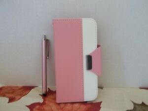ULAK IPHONE 6 WALLET CASE~PROTECTOR~PINK & WHITE~2 SLOTS