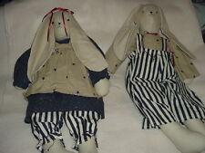 Pair of Americana Star Flag Rabbit Dolls~1000