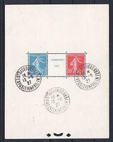 "FRANCE BLOC FEUILLET 2 "" STRASBOURG 1927 "" OBLITERE CACHET EXPOSITION TB  P119"