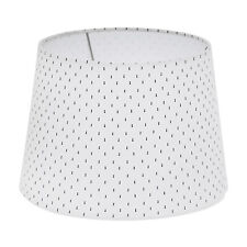 Large Drum Lampshade - White Print - Threshold *Pack of 2*