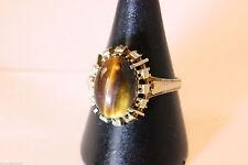 Ovale Unisex Ringe mit Edelsteinen aus Gelbgold