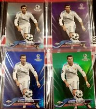 2017-18 TOPPS CHROME -- CRISTIANO RONALDO -- LOT OF 4 CARDS! COLLECTORS BUNDLE!!