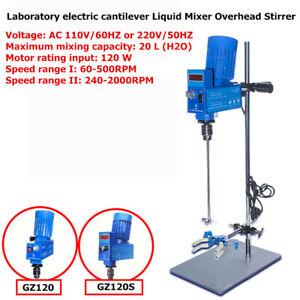 20L Laboratory Electric Cantilever Mixer Scientific Digital Overhead Stirrer