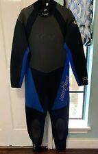 Sea Quest  XXL Men's 3.2 MM Wet Suit Blue & Black Surfing Surf California Dive