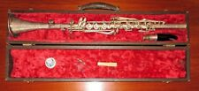 Windsor Clarinet Serial #25138 w Case, Silver Plate, Elkhart Indiana Vintage