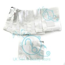 100 Nail Foil Gel Wraps Polish Removal Soak Off UV LED Acrylic GENUINE UK SELLER