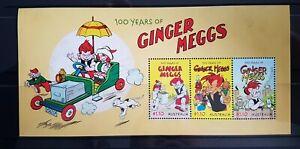 AUSTRALIA - 2021 100 YEARS OF GINGER MEGGS MINI SHEET  *FREE POSTAGE* SHIPS NOW
