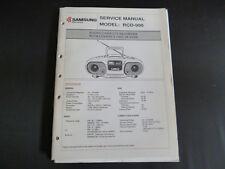 ORIGINALI service manual Samsung rcd-990