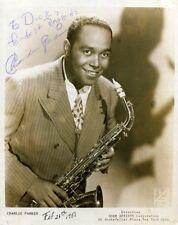 CHARLIE 'BIRD' PARKER Signed Photograph - Musician / Jazz Saxophonist - preprint