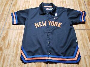 Nike New York Knicks Warm Up Shooting Jersey Basketball Youth Medium Black Boys