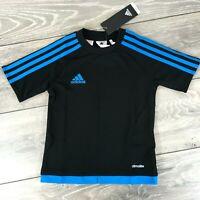 Adidas Estro Training T Shirt Football Sports Top Kids 4-5 Yrs Black R613-4