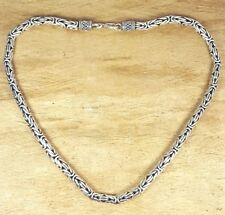 Freedom Tree Solid Sterling 925 Silver 5mm Byzantine Chain/Necklace 68 grams 18""