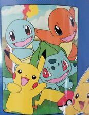 "Pokemon Smiling Friends Super Plush Throw 46"" x 60 NIP"