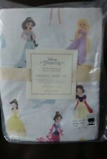 3Pc Pottery Barn Kids DISNEY PRINCESS Organic Twin Sheet Set  NEW