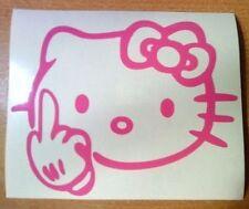 Hello Kitty Autocollant Voiture Drôle Nouveauté Vinyle Autocollants pare-chocs arrière fenêtre côtés rude