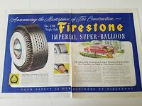 1949 Firestone Tires Imperial Super Balloon Tire Car Auto Automobile Ad