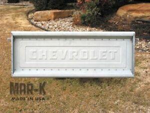 Tailgate Chevy 1960 - 1972 Chevrolet Script  Original Stepside Truck Steel
