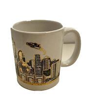 Universal Studios Hollywood Vtg Coffee Mug Cup Gold