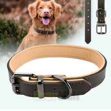 Genuine Leather Dog Collar Heavy Duty Adjustable Pet Collar for Medium Large Pet
