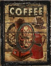 Primitive  French Country  Home Decor  Coffee  Wall Art Sign