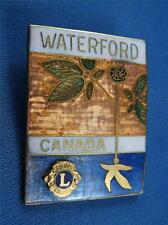 LIONS CLUB CANADA WATERFORD VINTAGE HAT LAPEL PIN SOUVENIR COLLECTOR