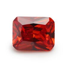 Padparadscha Sapphire 12x16mm 17.32ct Emerald Cut Shape AAAAA VVS Loose Gemstone