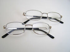 Silver Color Frame,  Real Glass Lens Reading Glasses Two Pairs.  +1.50.