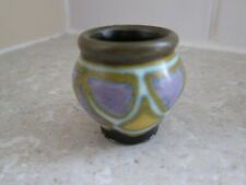 ANTIQUE MINIATURE ZUID GOUDA POTTERY VASE - 1 INCH