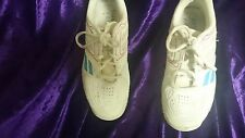 BABOLAT Junior Kids Girls TENNIS SHOES SNEAKERS SIZE 4 - White and Blue and Pink