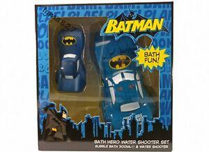 Batman Bath Hero Water Shooter & Bubble Bath Kids Boys Set