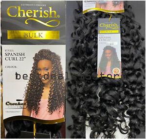 "Cherish Spanish Curl 22"" Synthetic Crochet Braid Long Curly Hair Extension"