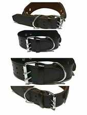 Leather Dog Collar Heavy With Handle For Pet Control/Training Black Brown BWW