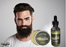 COMPTON PREMIUM BEARD BALM & OIL SET (UNSCENTED) 50 G ALL NATURAL MELBOURNE MADE